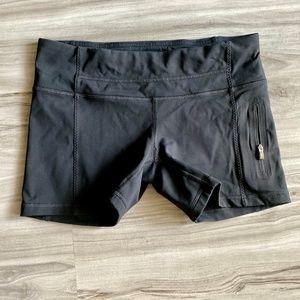 Lululemon Black Shorts Zip Pocket Size 8